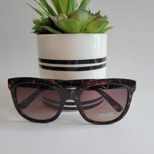 Guess Womens Brown Tortoise Havana Gradient Mirror Sunglasses UV Protection NEW